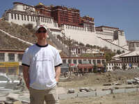 UtterlyBoring.com In Front of Potala Palace in Lhasa
